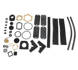 Corvette Engine Compartment Seal Kit, 2X4 Tank Top Rad, 1960-1961