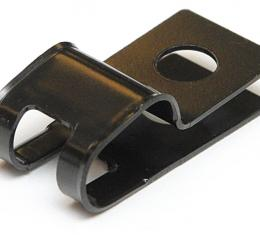 "Brake & Fuel Line Clamp, Double R Style 3/8""-5/16"" no Tab, Black E-Coat"