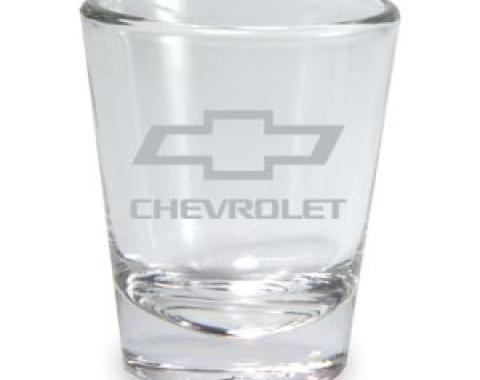Chevrolet Etched Bowtie Clear Shot Glass