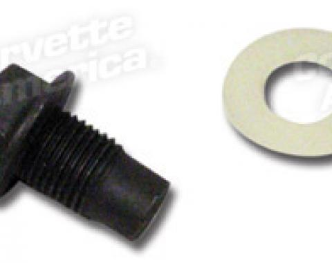 Corvette Drain Plug, Engine Oil, 1957-1982