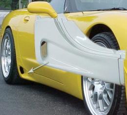 Corvette C5 Custom Rear Rockers, 1997-2004