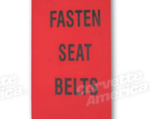 Corvette Lens, Seat Belt Warning, 1972-1976